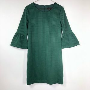 Banana Republic Christmas green bell sleeve dress